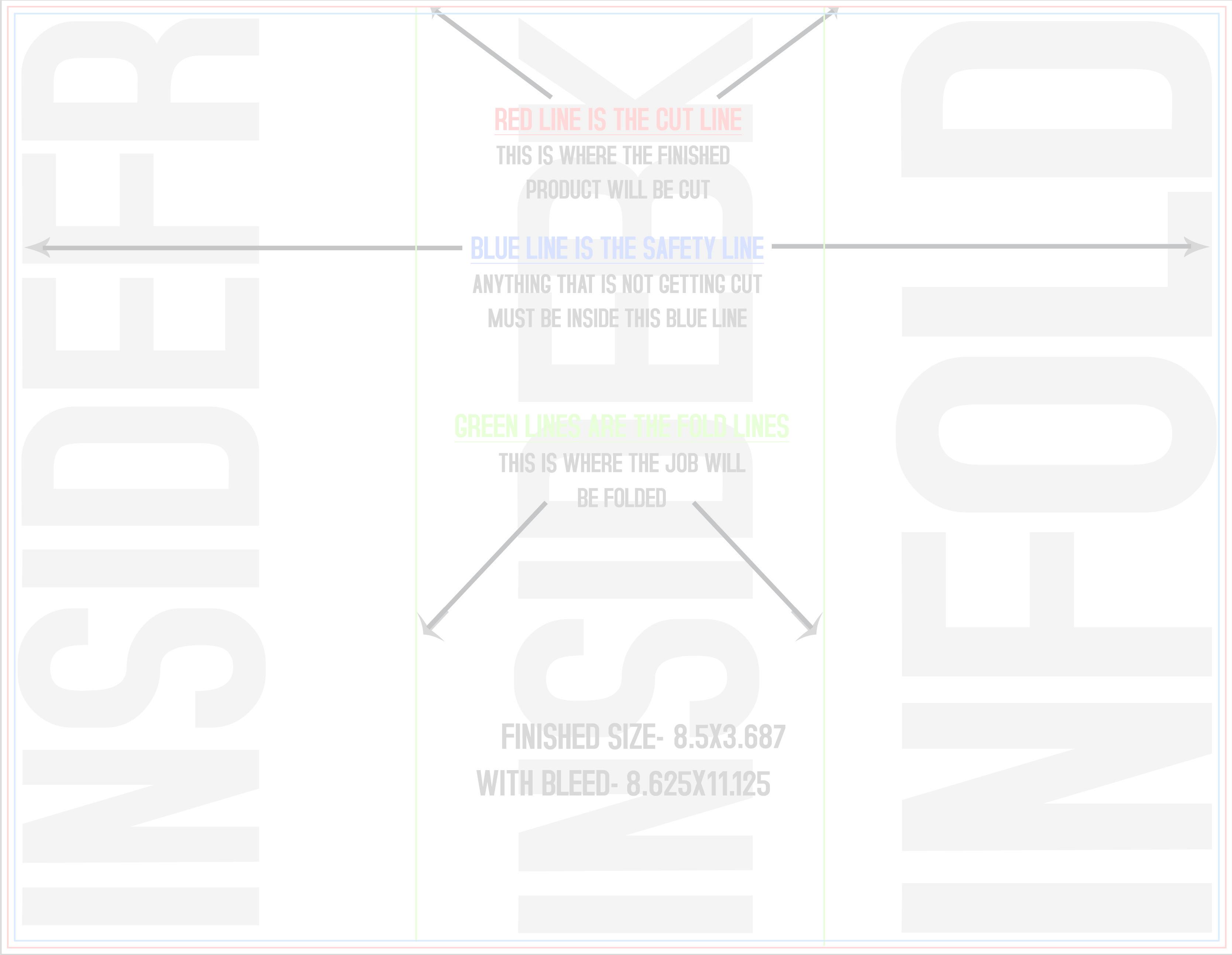 X Back Trifold Template Profit Peak Marketing In Eau - 85x11 brochure template