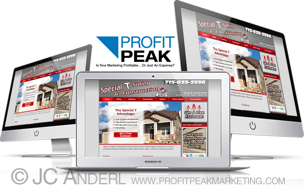 Website Designed for Local Siding & Construction Company