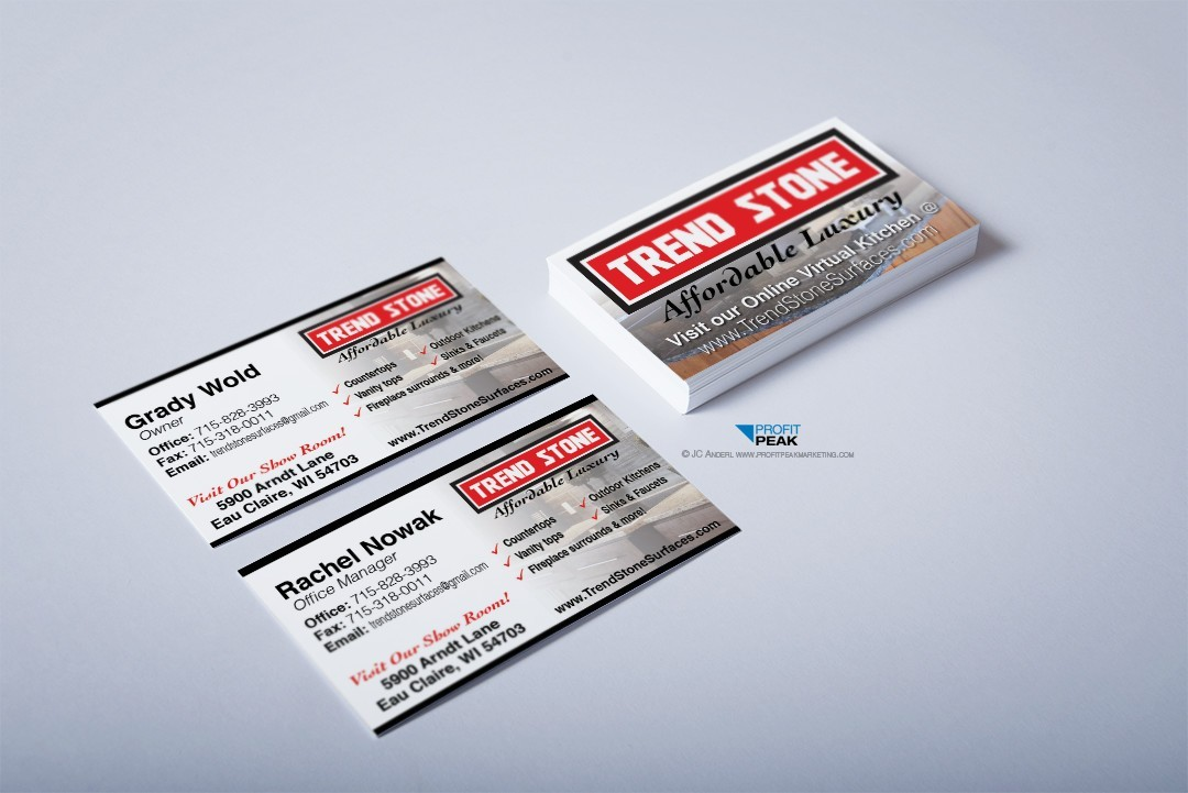 Business Cards for Granite Countertop Company