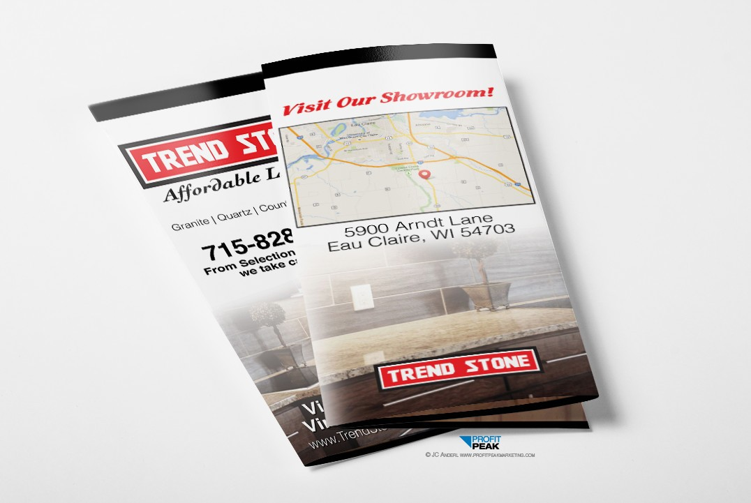 Custom Designed Tri-fold Brochure for Granite Countertop Company