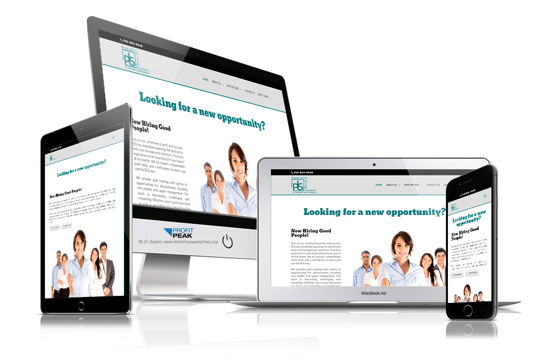 Responsive Website Design for Employment Company