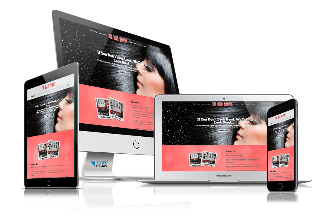 Website Designed for Hair Salon & Barbershop