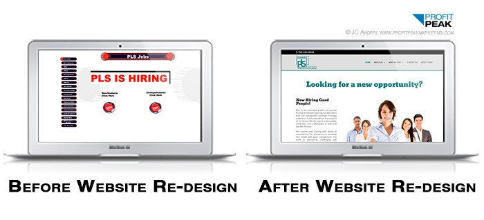 Website Re-design Before & After