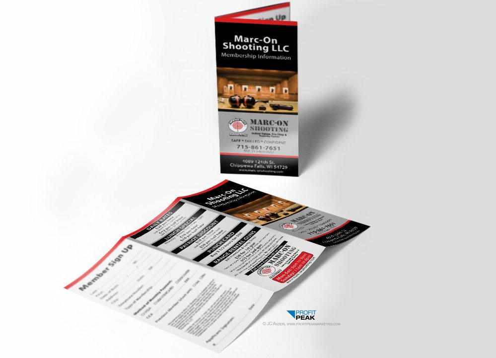 Tri-fold Brochures for Indoor Shooting Range