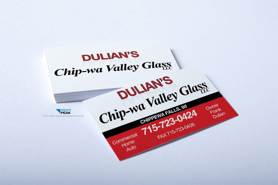 Business Cards for Glass Repair Shop