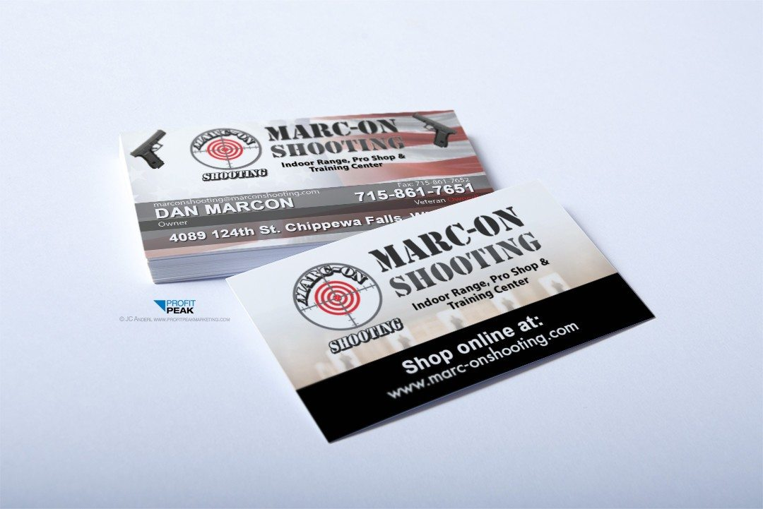 Business Cards for Indoor Shooting Range