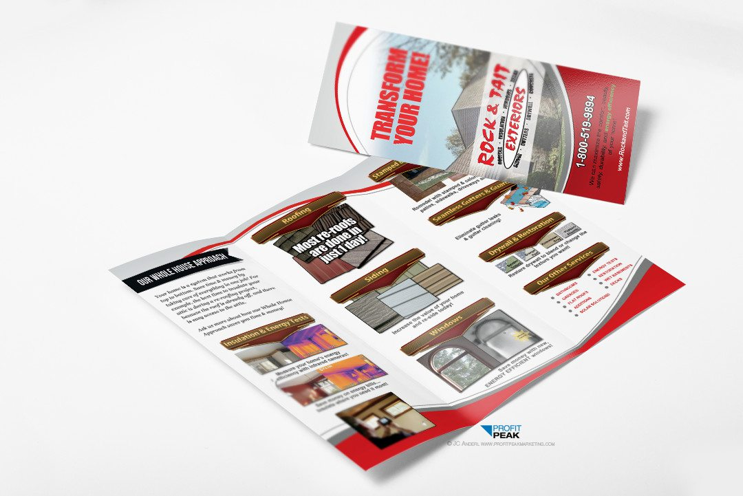 Tri-fold Brochure for Construction & Remodeling Company